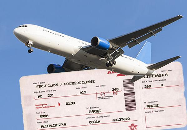 Fattura per biglietti aerei