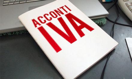 VERSAMENTO DELL'ACCONTO IVA PER L'ANNO 2018